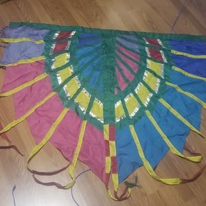 Large peacock design flag banner tapestry